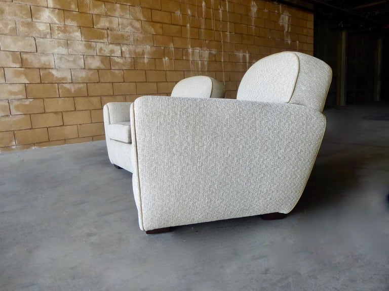 Pair of Vintage 1930s French Art Moderne Club Chairs For Sale 2