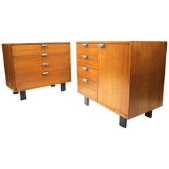 Pair of Vintage 1950s Basic Cabinet Series Console Cabinets by George Nelson
