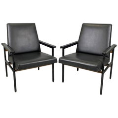 Pair of Vintage Adjustable Armchairs, Czechoslovakia, 1970s