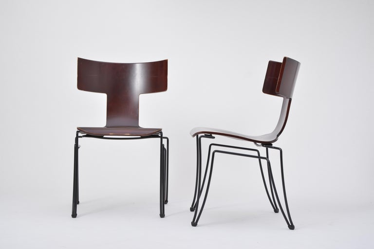 American Pair of Vintage Anziano Dining Chairs by John Hutton for Donghia For Sale