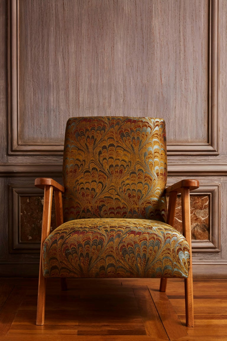 French Pair of Vintage Armchairs For Sale