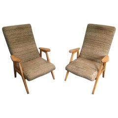 Pair of Vintage Armchairs, French, circa 1970