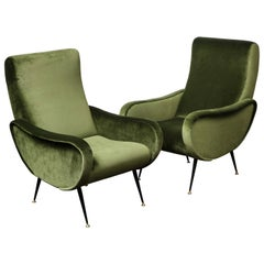 Pair of Vintage Armchairs in the Style of Marco Zanuso