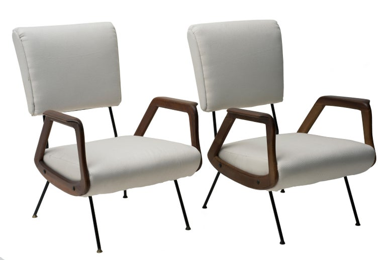 20th Century Pair of Vintage Armchairs Italian Production, 1950 For Sale