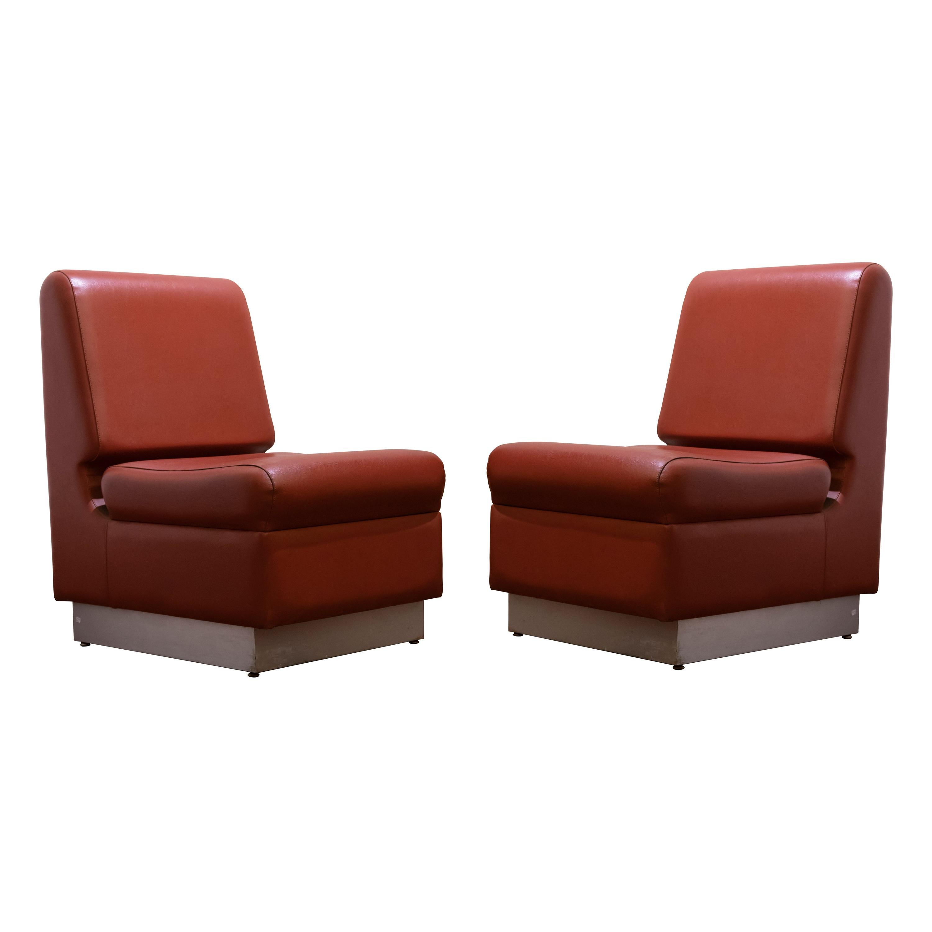 Pair of Vintage Armchairs, Italian Production, 1960s