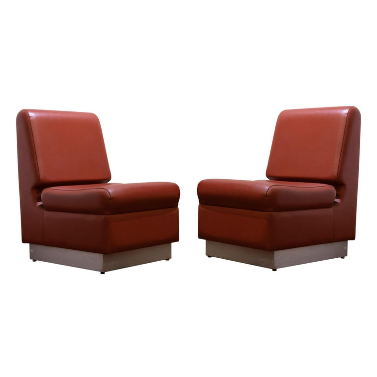 Pair of Vintage Armchairs, Italian Production, 1960s For Sale