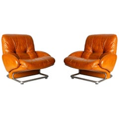 Pair of Vintage Armchairs, Italy, 1970s