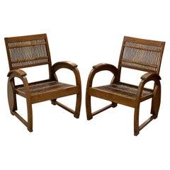 Pair of Vintage Balinese Rattan Chairs