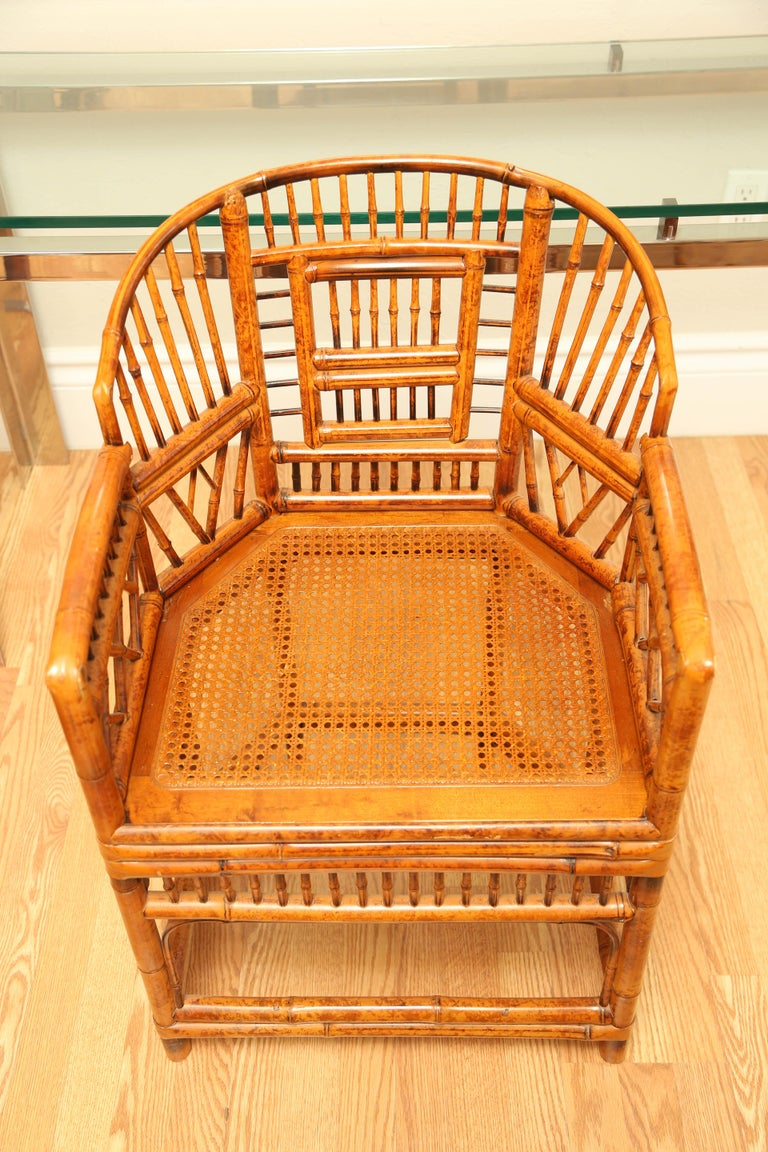 Pair of Vintage Bamboo Brighton Pavilion Armchairs  For Sale 1