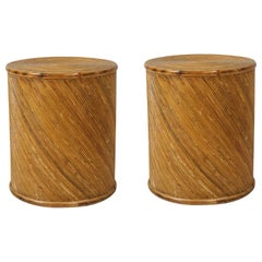Pair of Vintage Bamboo End Tables