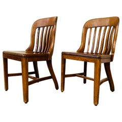 Pair of Vintage Bankers Chairs by Sikes of Buffalo N.Y.