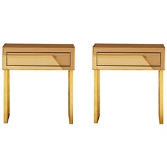 Pair of Vintage Bedside Tables, by Studio Glustin