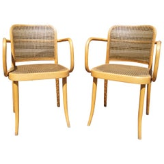 Pair of Vintage Bentwood Armchairs by Joseph Hoffmann for Stendig