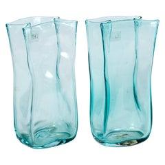 Pair of Vintage Blenko Glass Vases, circa 1960's