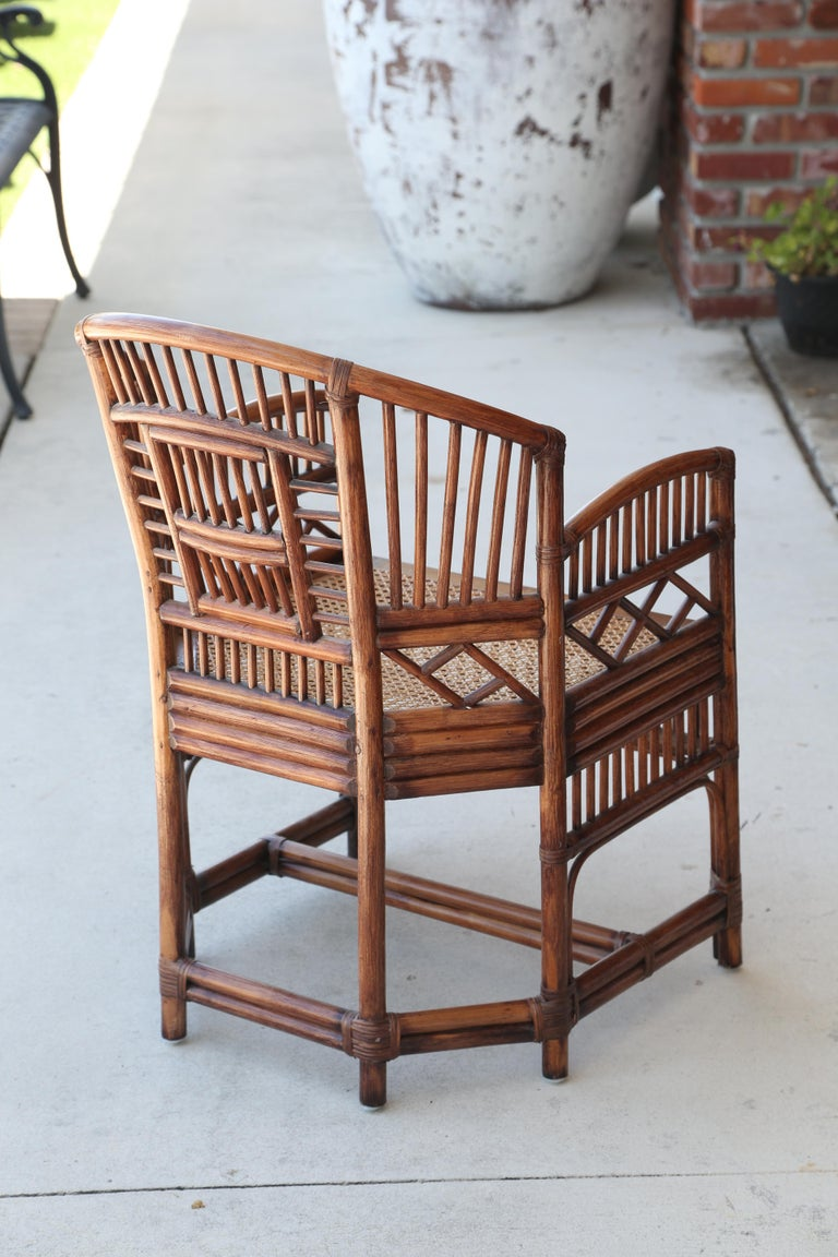 Pair of Vintage Brighton Bamboo Chairs For Sale 5