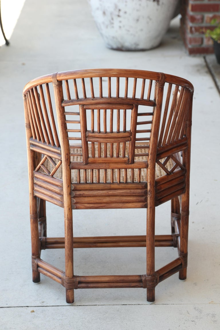 Pair of Vintage Brighton Bamboo Chairs For Sale 6