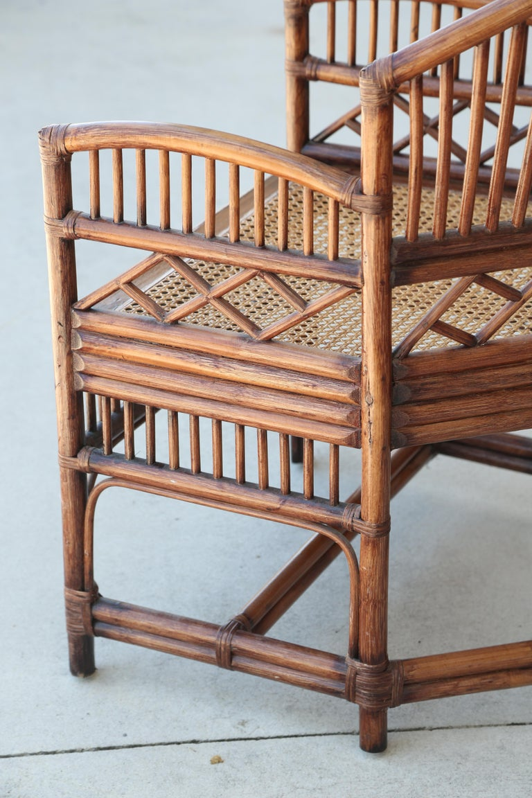 Pair of Vintage Brighton Bamboo Chairs For Sale 7