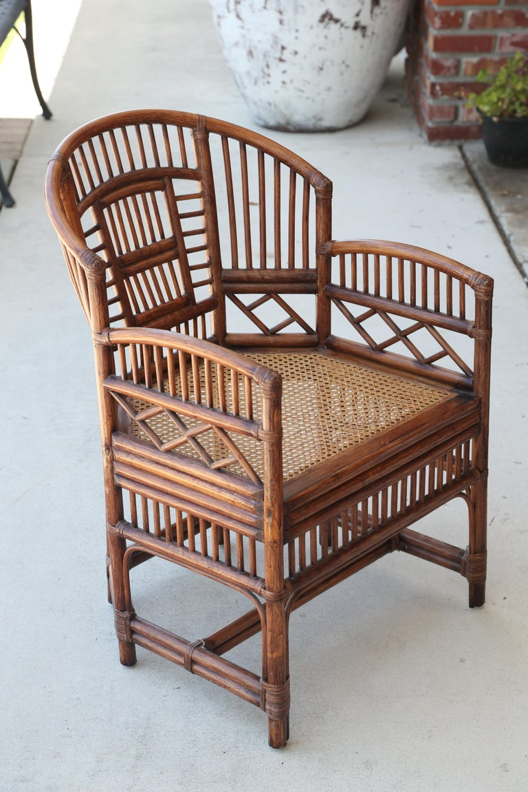 Chinese Pair of Vintage Brighton Bamboo Chairs For Sale