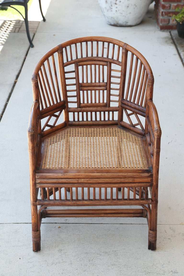 Pair of Vintage Brighton Bamboo Chairs In Good Condition For Sale In West Palm Beach, FL