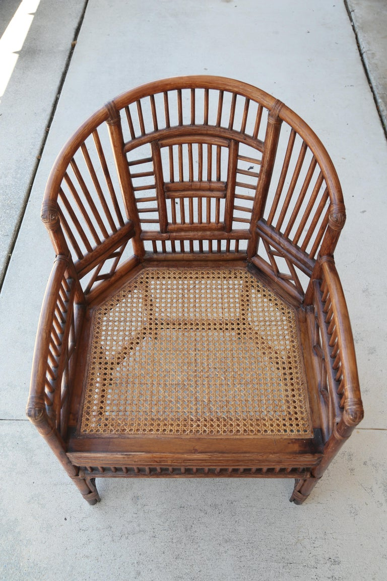 20th Century Pair of Vintage Brighton Bamboo Chairs For Sale