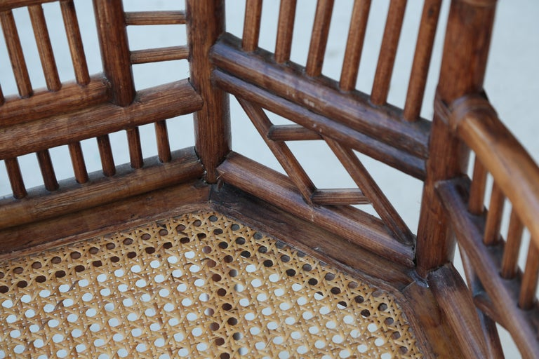 Pair of Vintage Brighton Bamboo Chairs For Sale 1