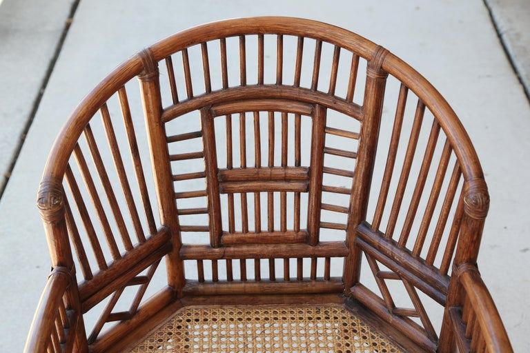 Pair of Vintage Brighton Bamboo Chairs For Sale 2