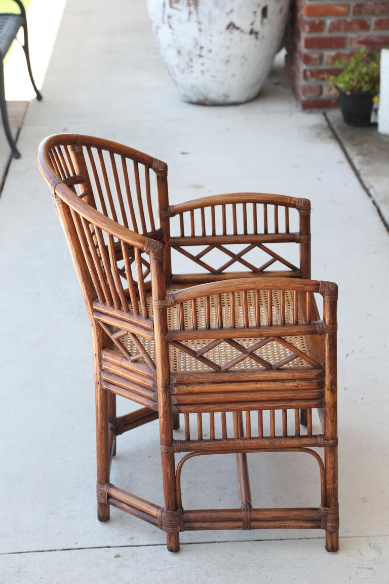 Pair of Vintage Brighton Bamboo Chairs For Sale 3