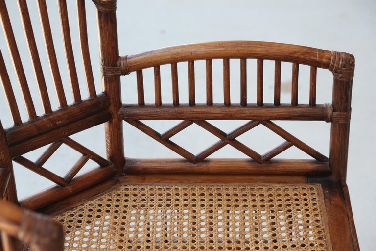 Pair of Vintage Brighton Bamboo Chairs For Sale 4