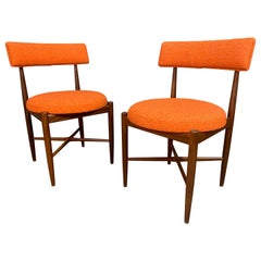 Pair of Vintage British Mid-Century Modern Teak Accent Chairs by G Plan