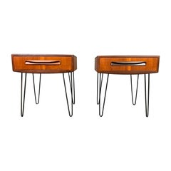 Pair of Vintage British Mid-Century Modern Teak Nightstands by G Plan