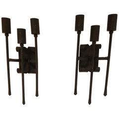 Pair of Vintage Brutalist Wall Lamps, 1960s