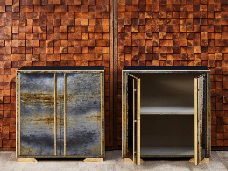 Mid-Century Modern Pair of Vintage Cabinets