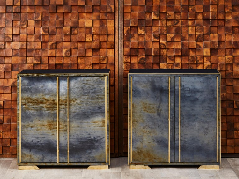 Italian Pair of Vintage Cabinets
