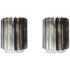 Pair of Vintage Camer Glass Sconces