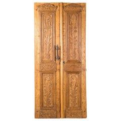 Pair of Vintage Carved Doors