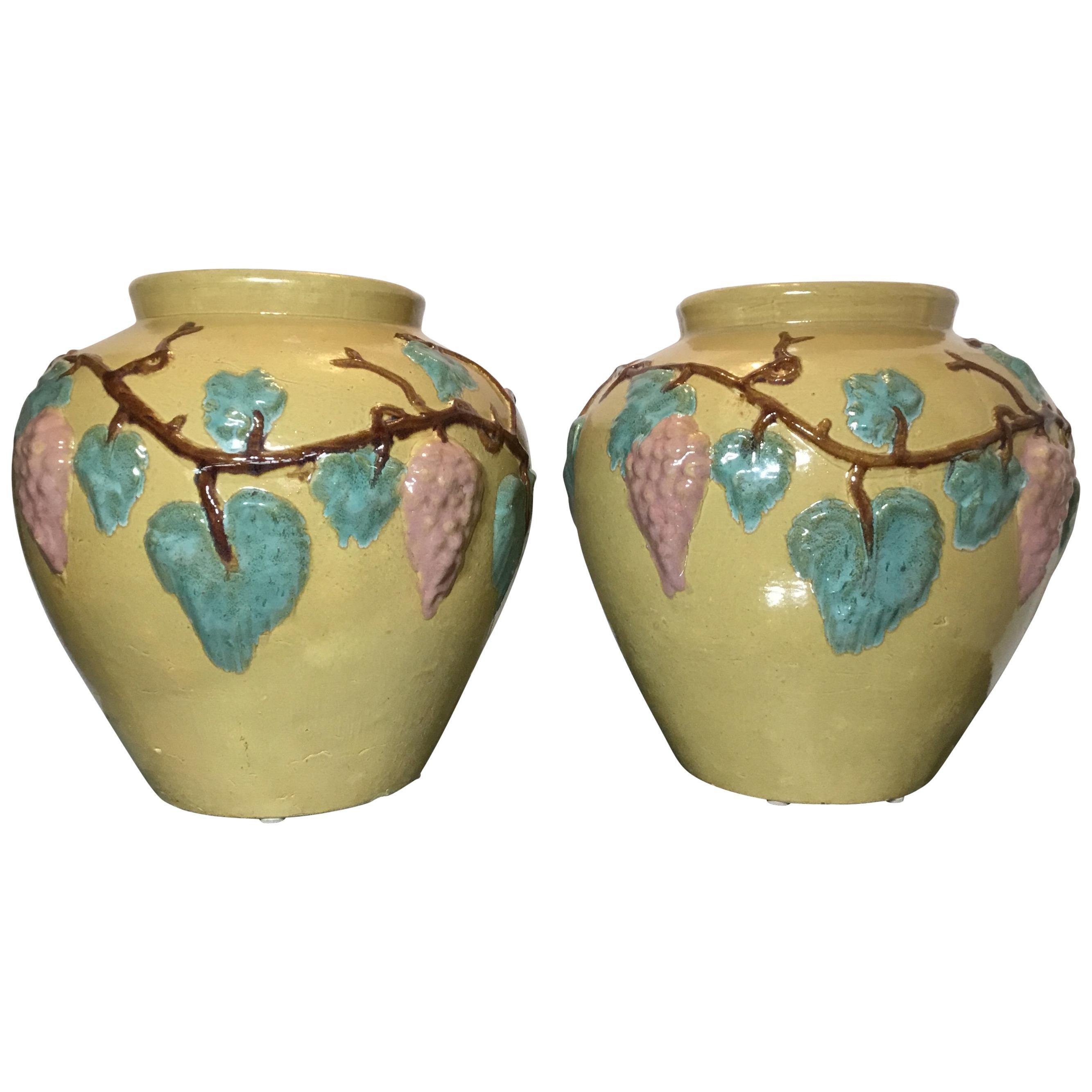 Pair of Vintage Ceramic Vases or Planters