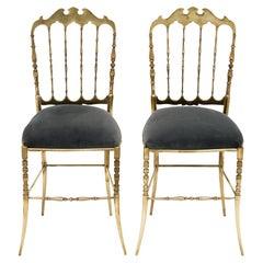 Pair of Vintage Chiavari Chairs