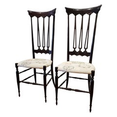 Pair of Vintage Chiavari Chairs Model Spada