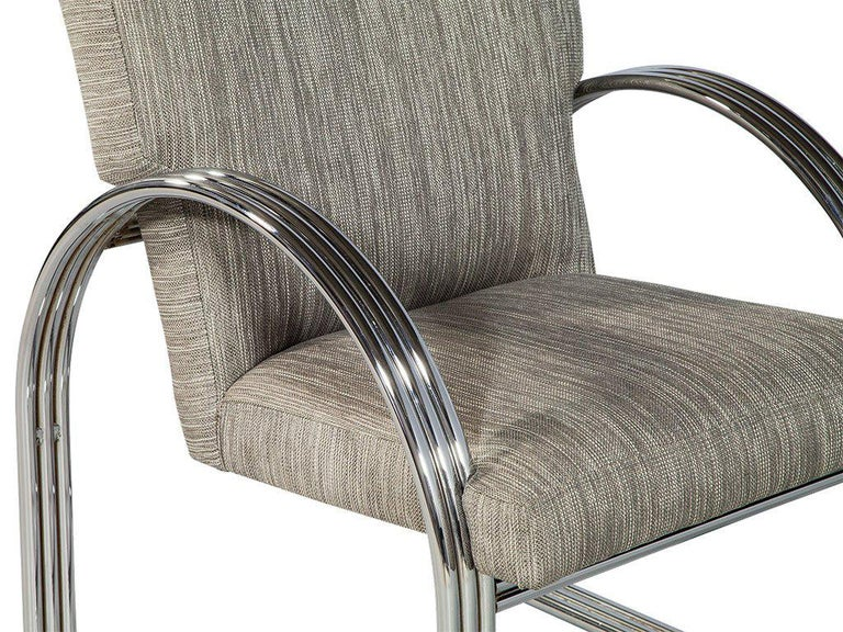 20th Century Pair of Vintage Chrome Side Chairs For Sale