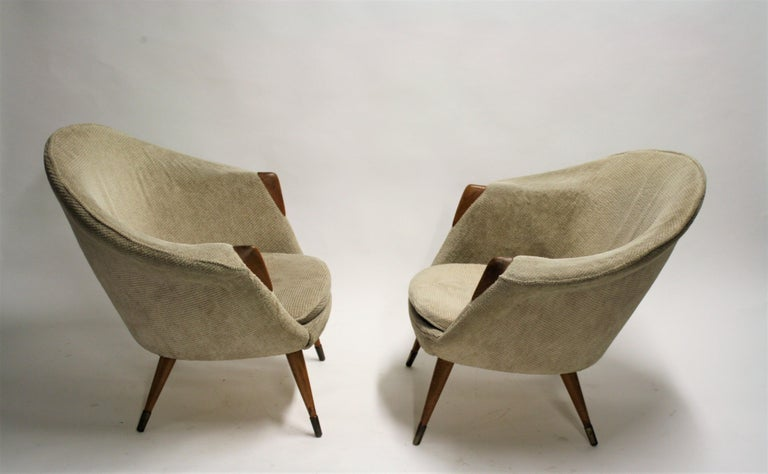 Mid-Century Modern Pair of Vintage Cocktail Chairs, 1960s