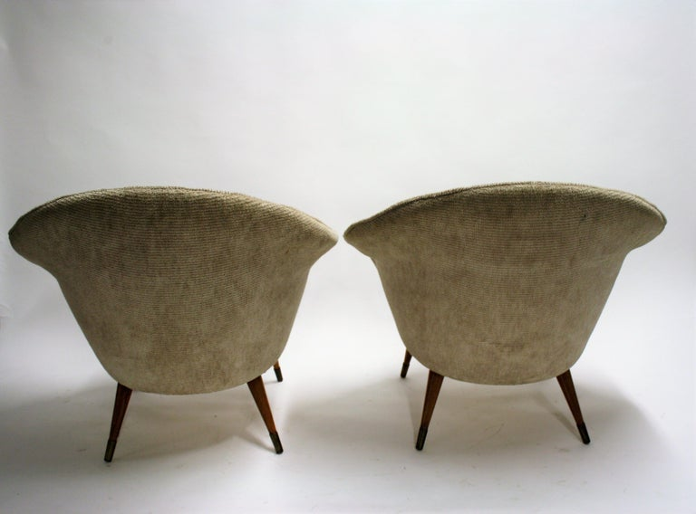 Pair of Vintage Cocktail Chairs, 1960s In Good Condition In Ottenburg, BE