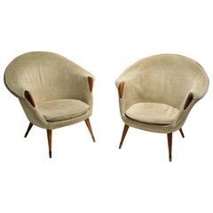 Pair of Vintage Cocktail Chairs, 1960s