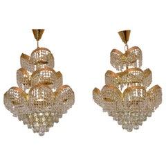 Pair of Vintage Crystal Chandeliers