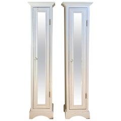 Pair of Vintage Custom Wood Cabinet