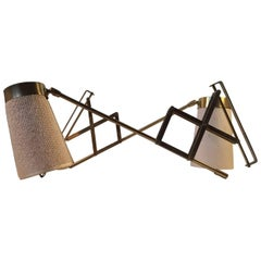 Pair of Vintage Danish Brass Scissor Wall Lamps by Th. Valentiner, 1950s