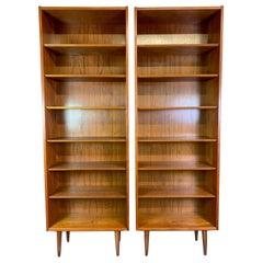 Pair of Vintage Danish Mid-Century Modern Teak Bookshelves by Poul Hundevad