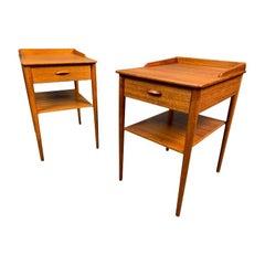 Pair of Vintage Danish Mid-Century Modern Teak End Tables by Erik Andersson