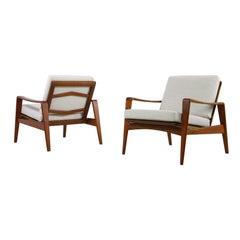 Pair of Vintage Danish Modern 1960s Teak Lounge Easy Chairs by Arne Wahl Iversen