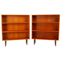 Pair of Vintage Danish Teak Bookcases, 1960s