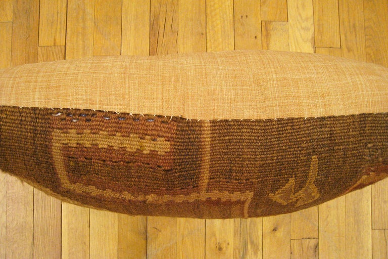 Wool Pair of Vintage Decorative Turkish Kilim Oriental Rug Pillows For Sale